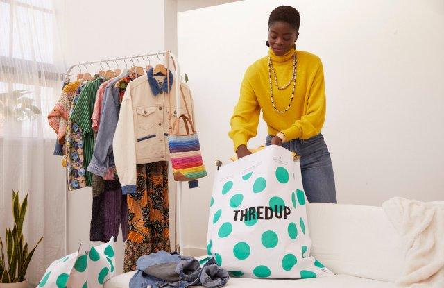 ThredUp, resale, thrift, secondhand, fast fashion, shopping, gen z, millennials, online