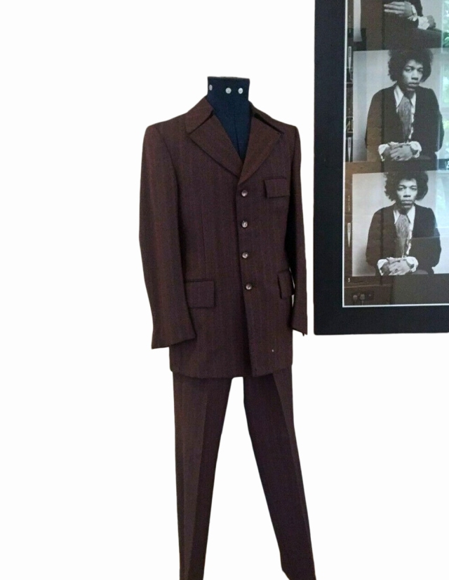 A suit once worn by Jimi Hendrix.