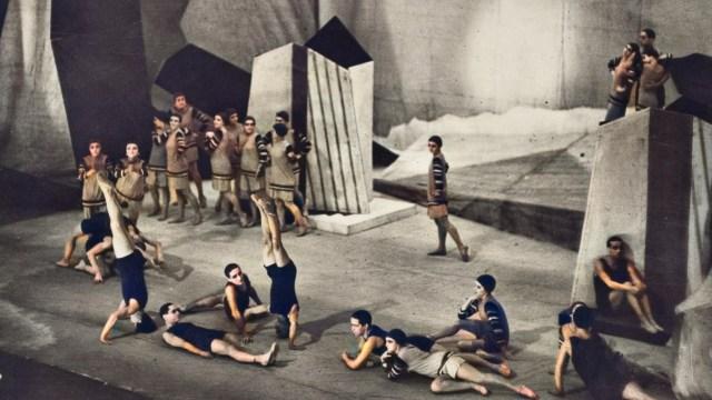 """Gabrielle Chanel's costume design for the 1924 ballet """"Le Train Bleu."""""""