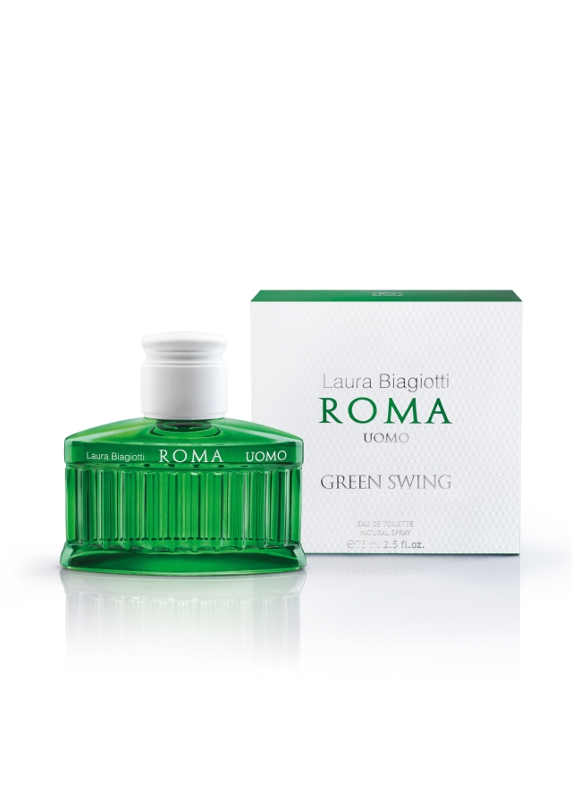 The Roma Uomo Green Swing fragrance by Laura Biagiotti.