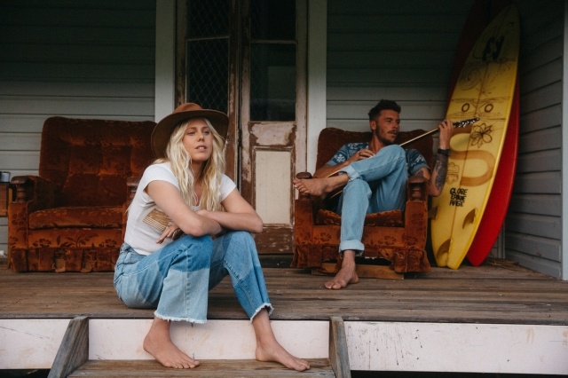 An image from the Wrangler x Billabong collaboration