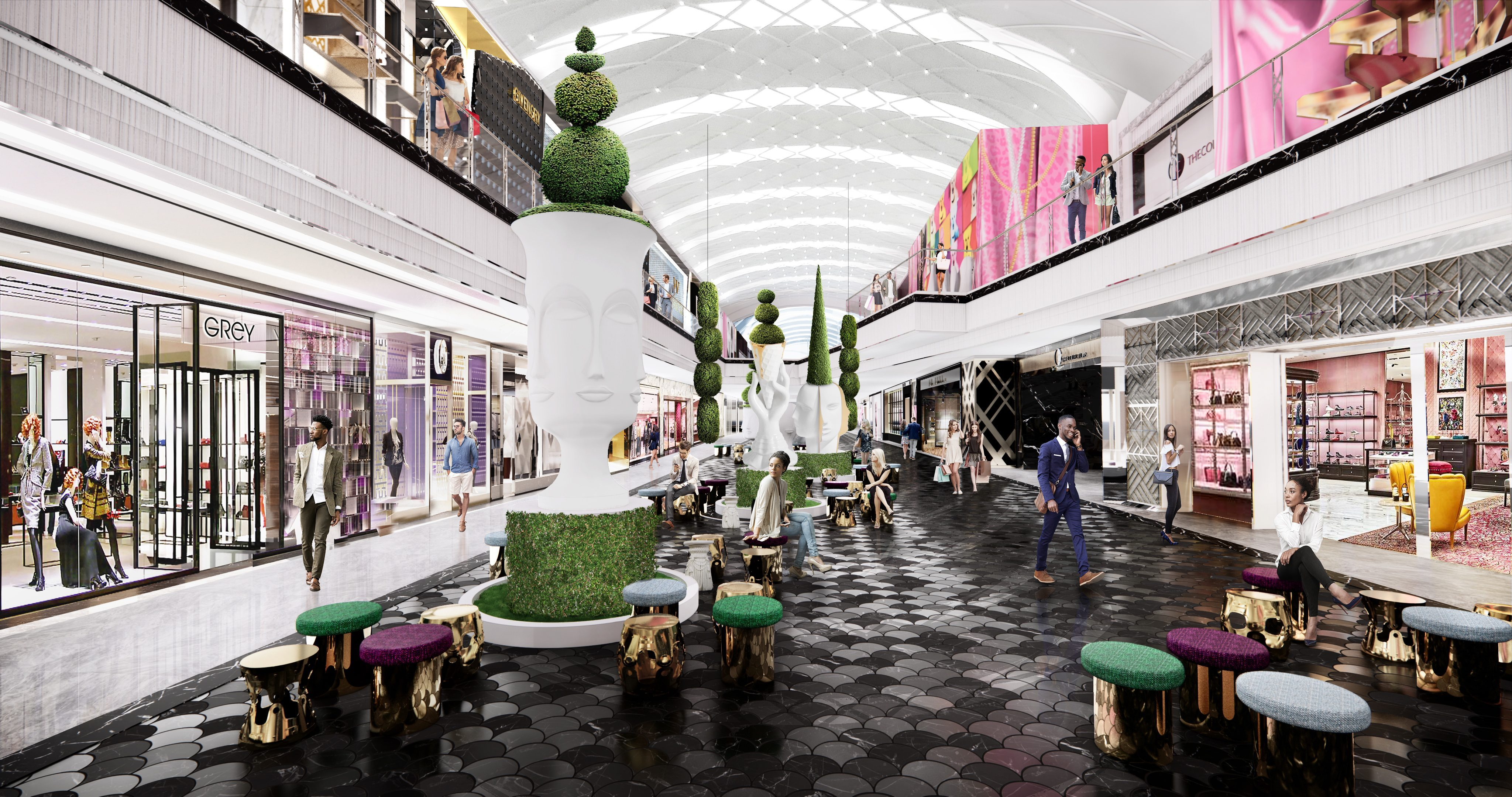 A rendering of The Avenue at American Dream.