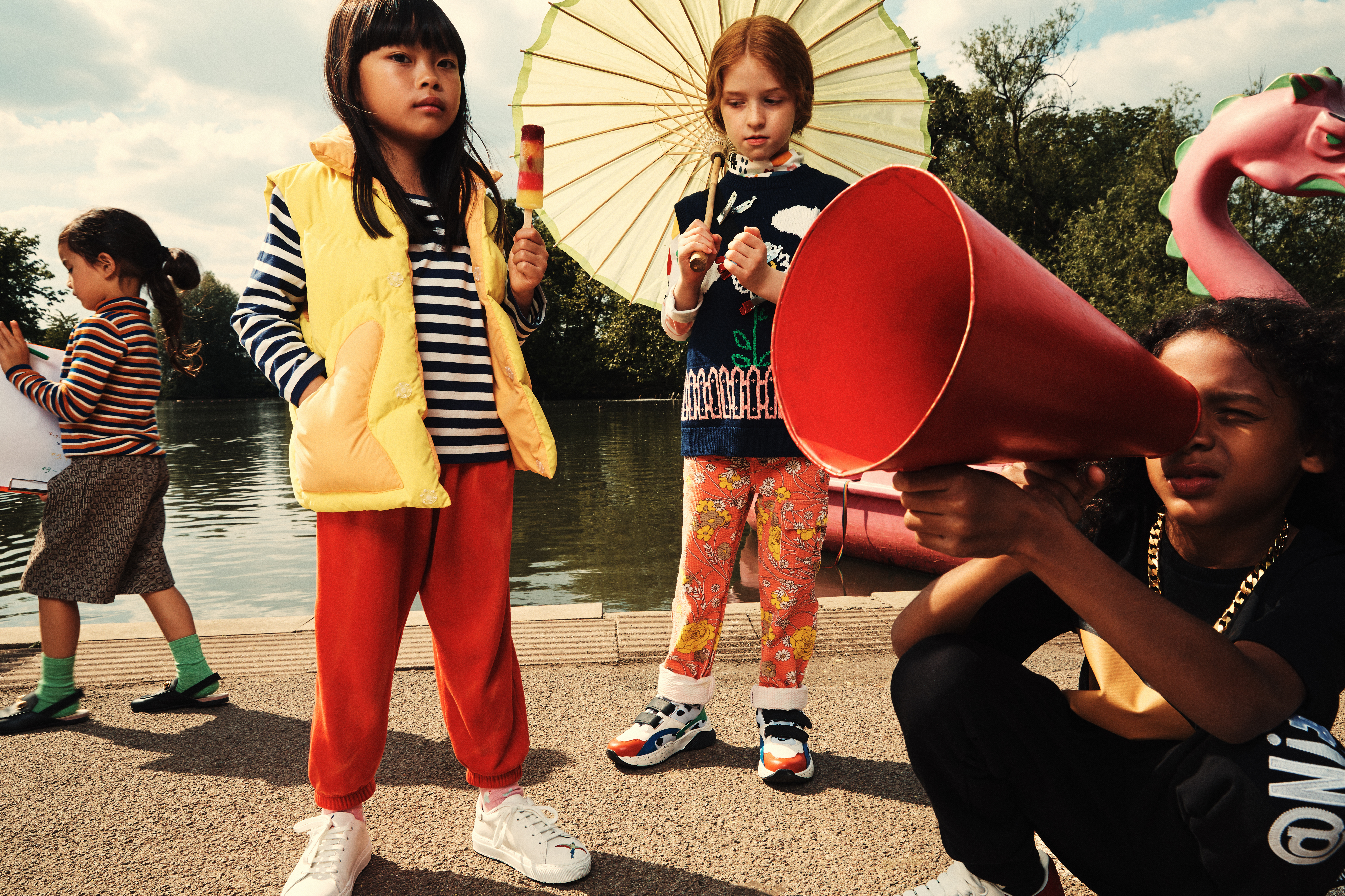 """An image from Browns' kids' wear editorial """"Honey, I Shrunk the Fashion."""""""