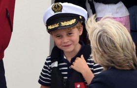 Photo by: KGC-03/STAR MAX/IPx 2019 8/8/19 Duchess Catherine, Prince William, Prince George and Princess Charlotte attend the King's Cup Race on the Isle of Wight.