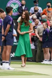 Photo by: KGC-173/STAR MAX/IPx 2021 7/10/21 Catherine, Duchess of Cambridge at the WimbledonTennis Championship.