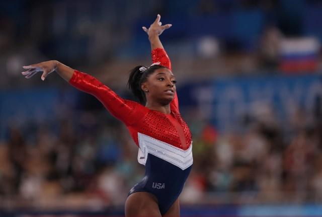 Simone Biles at the Tokyo Olympics 2021