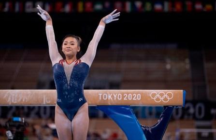 Sunisa Lee at the Gymnastics Women's all around final.
