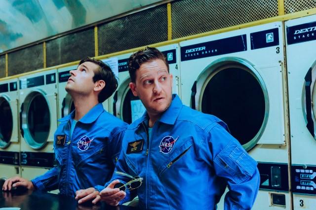 "Jason Ralph and Trevor Einhorn in ""The Great Filter."""