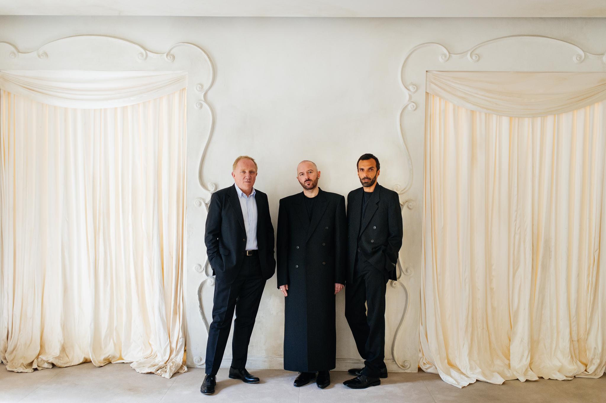 François-Henri Pinault, Demna Gvasalia and Cédric Charbit