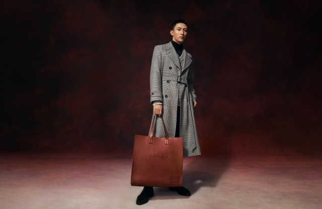 The Bally fall 2021 ad campaign starring Johnny Huang.