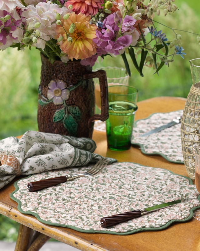 A look from Veronica Beard's summer tabletop collection.