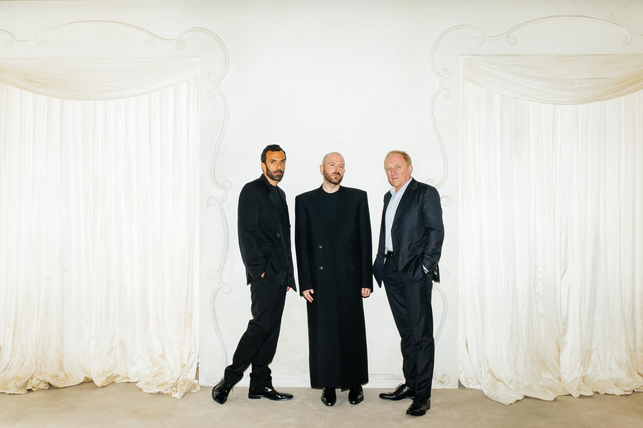 Cédric Charbit, Demna Gvasalia and François-Henri Pinault.