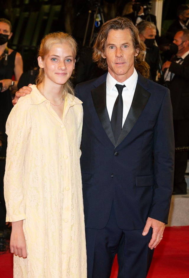 Danny Moder and daughter Hazel Moder attends the premiere of 'Flag Day' during the 74th Annual Cannes Film Festival at Palais des Festivals in Cannes, France, on 10 July 2021. 10 Jul 2021 Pictured: Danny Moder and daughter Hazel Moder attends the premiere of 'Flag Day' during the 74th Annual Cannes Film Festival at Palais des Festivals in Cannes, France, on 10 July 2021. Photo: Vinnie Levine. Photo credit: MEGA TheMegaAgency.com +1 888 505 6342 (Mega Agency TagID: MEGA769614_022.jpg) [Photo via Mega Agency]