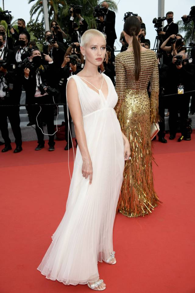 """74th Canes Fil Festival, red carpet film """"""""The French Dispatch"""" Red Carpet"""". 12 Jul 2021 Pictured: Iris Law. Photo credit: KILPIN / MEGA TheMegaAgency.com +1 888 505 6342 (Mega Agency TagID: MEGA770261_001.jpg) [Photo via Mega Agency]"""