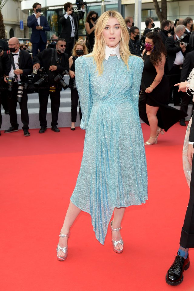 """""""The French Dispatch"""" Red Carpet - The 74th Annual Cannes Film Festival. 12 Jul 2021 Pictured: Honor Swinton Byrne. Photo credit: maximon / MEGA TheMegaAgency.com +1 888 505 6342 (Mega Agency TagID: MEGA770296_018.jpg) [Photo via Mega Agency]"""