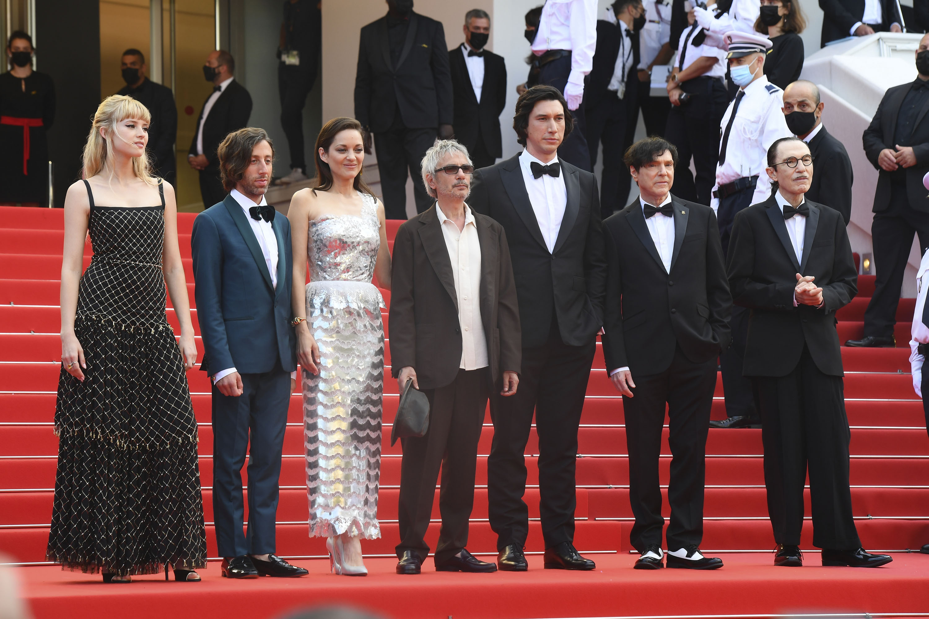 Angèle, Simon Helberg, Marion Cotillard, Leos Carax, Adam Driver, Russell Mael and Ron Ma