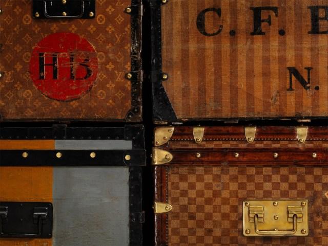 Louis Vuitton vintage trunks