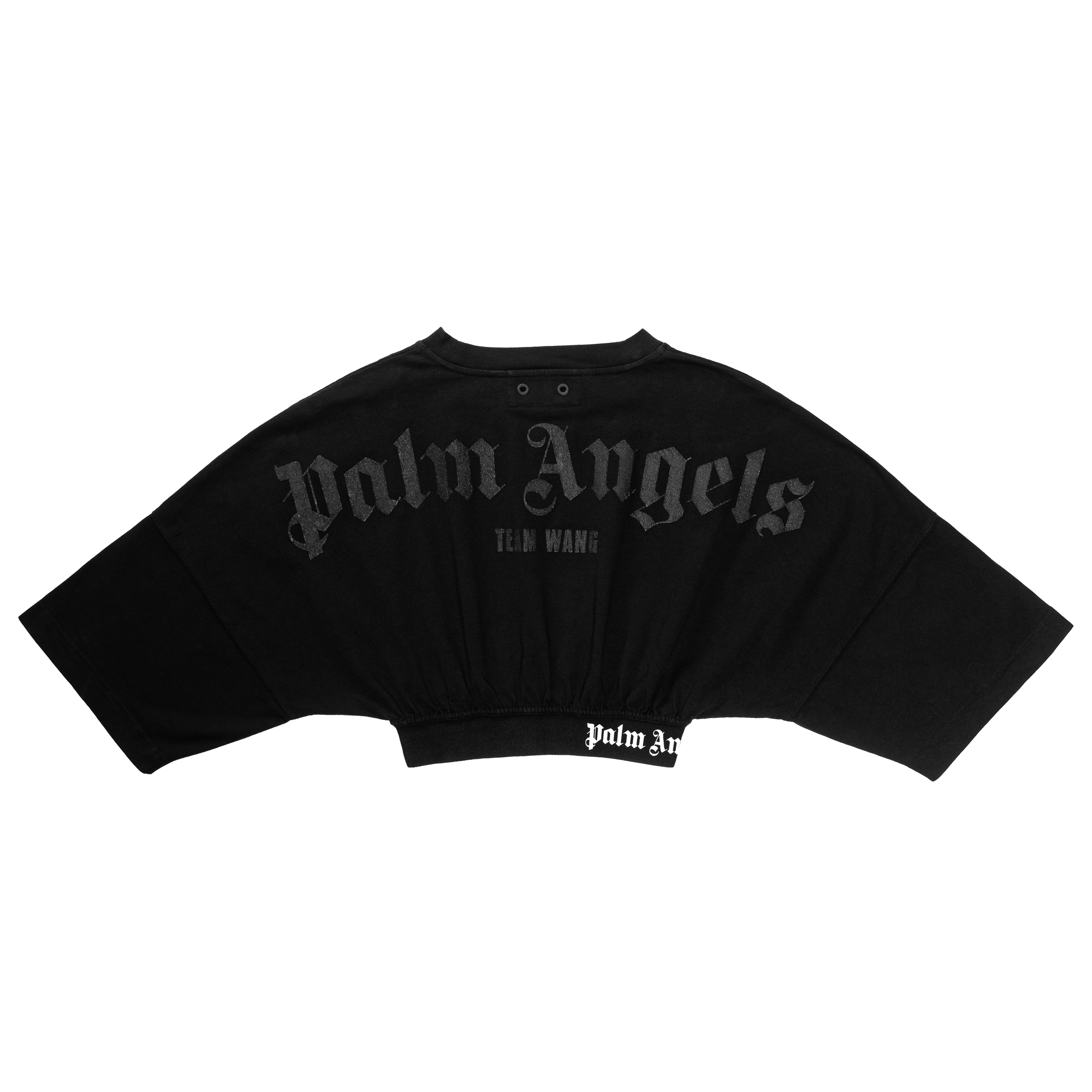 A cropped tee from the Team Wang x Palm Angels line.