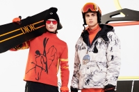 Looks from Dior's men's ski capsule line designed with Peter Doig.