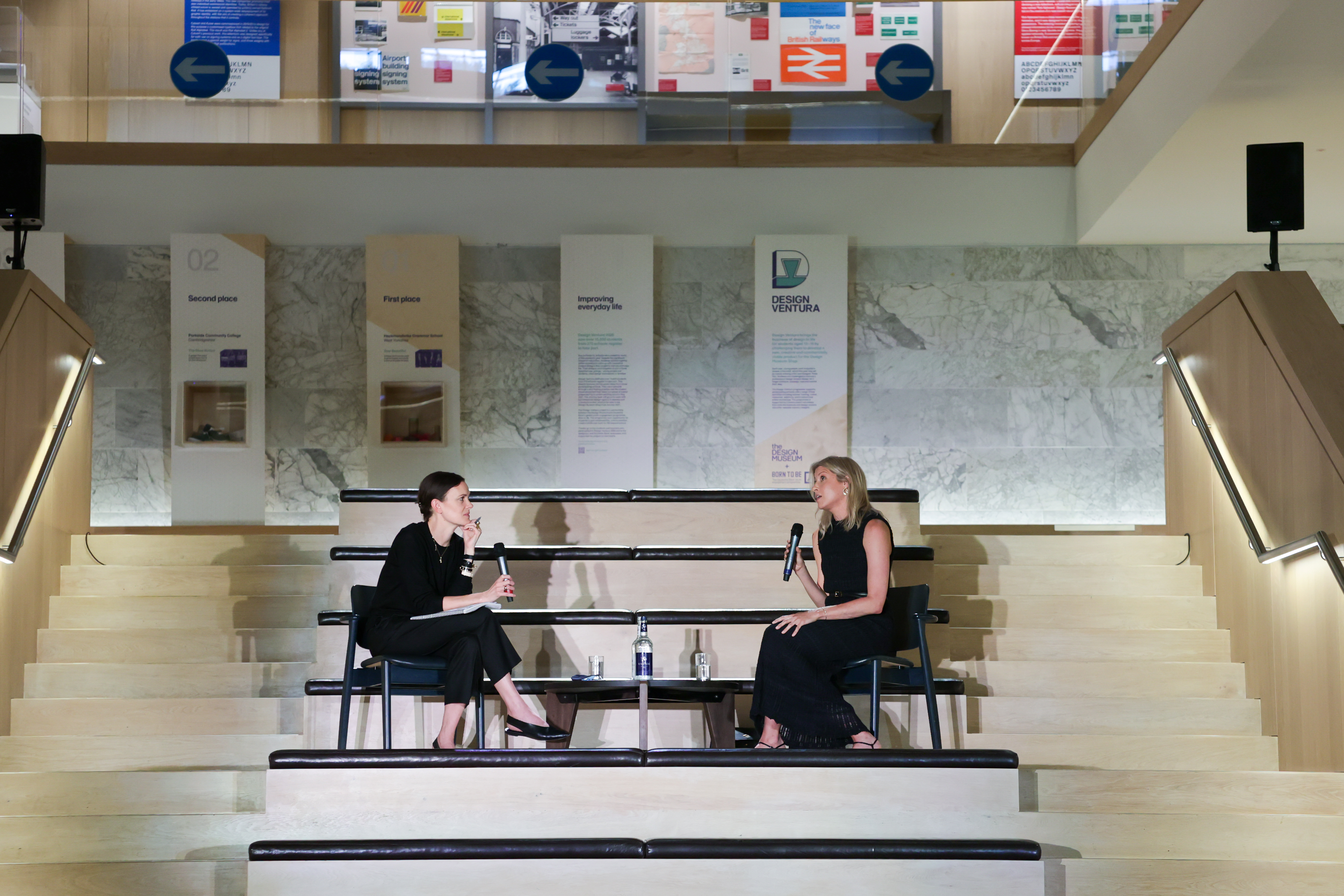 Jo Ellison and Melissa Morris at the Metier x The Design Museum event