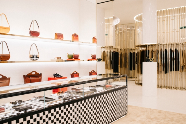 A look at the Burberry concept store opening in Knightsbridge.