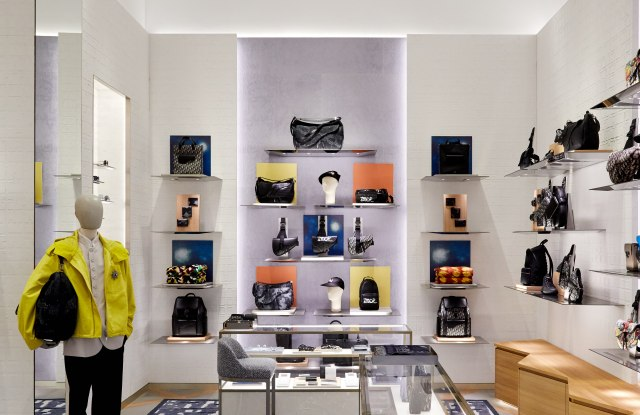 A look inside the temporary Dior store on Fifth Avenue in Manhattan.