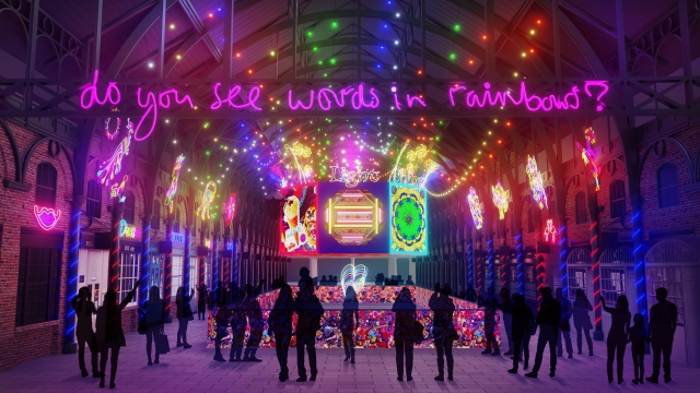 A look at British artist Chila Burman's installation for London's Covent Garden market.