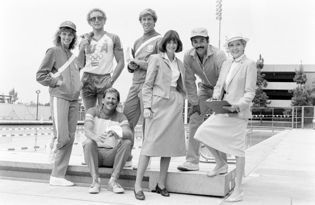 Team apparel for the 1984 Los Angeles Summer Olympics games designed by Levi's Strauss and Company.