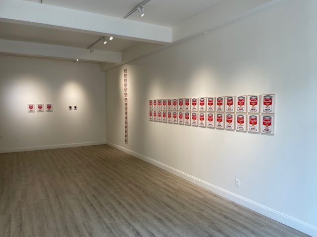 """""""Richard Pettibone: Andy Warhol, Campbell's Soup Cans, 1990-2019"""" at Honor Fraser Aspen galley"""