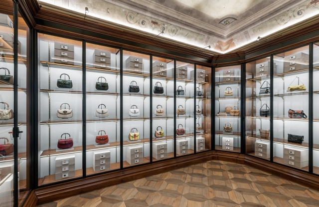 The Gucci archive space at Palazzo Settimanni in Florence, Italy.