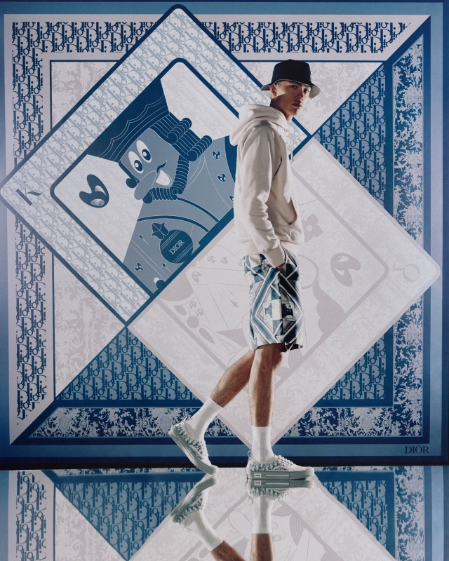 A look from Dior's capsule collection with Kenny Scharf.