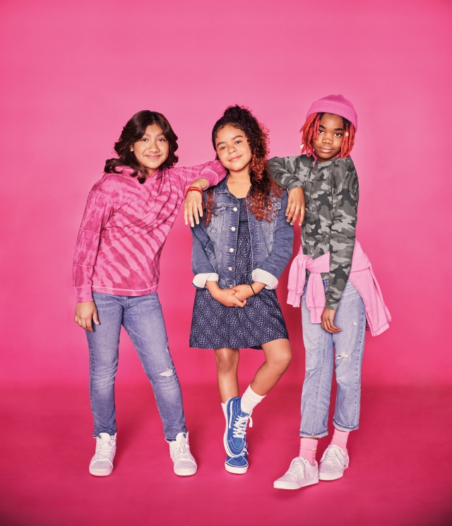 Some Hickory Ridge Elementary School students in the new GapKids campaign.