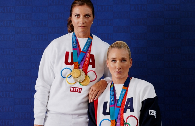Misty May-Trainor and Kerri Walsh Jennings in Kith's Team USA collection.
