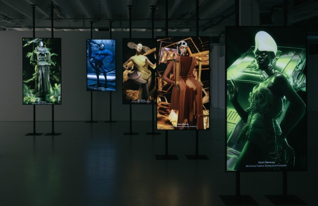 A series of interactive installations displaying a selection of works from LCF's school of media and communication students.