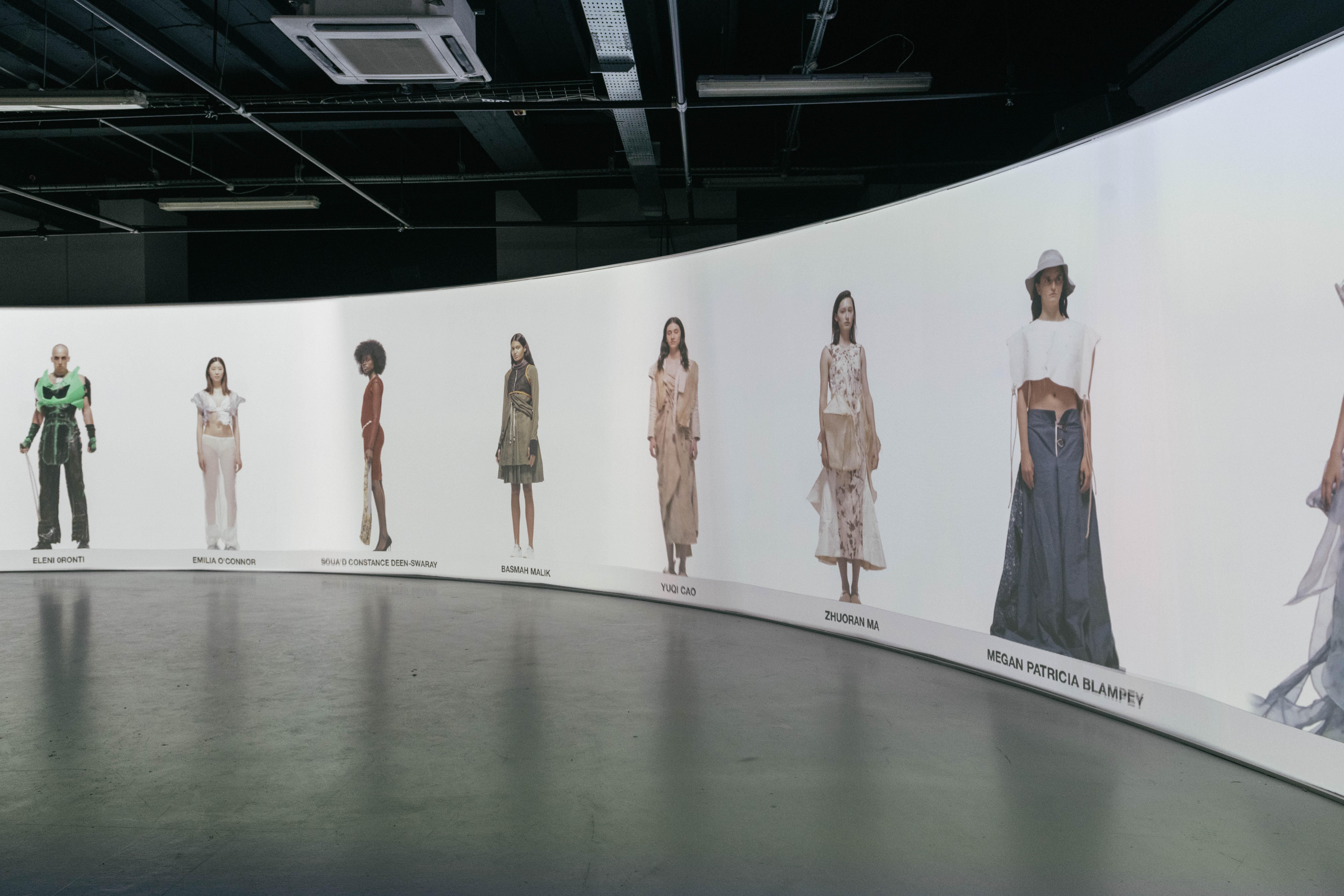 A fashion film featuring LCF BA fashion students' work at the graduate showcase