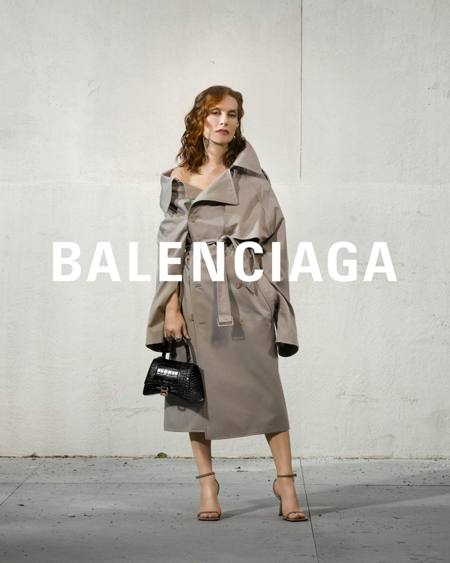 Isabelle Huppert in the Balenciaga campaign.