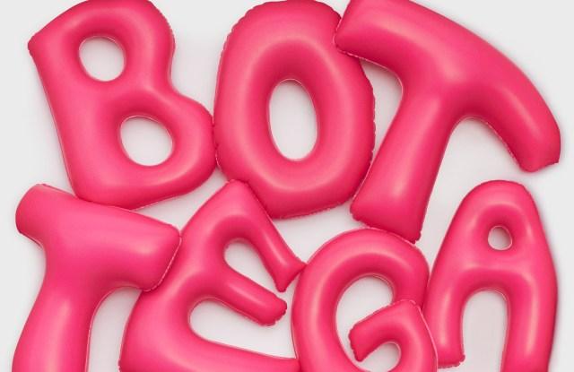 Bottega Veneta Qixi Wechat Mini-program pop-up features a inflatable logo design