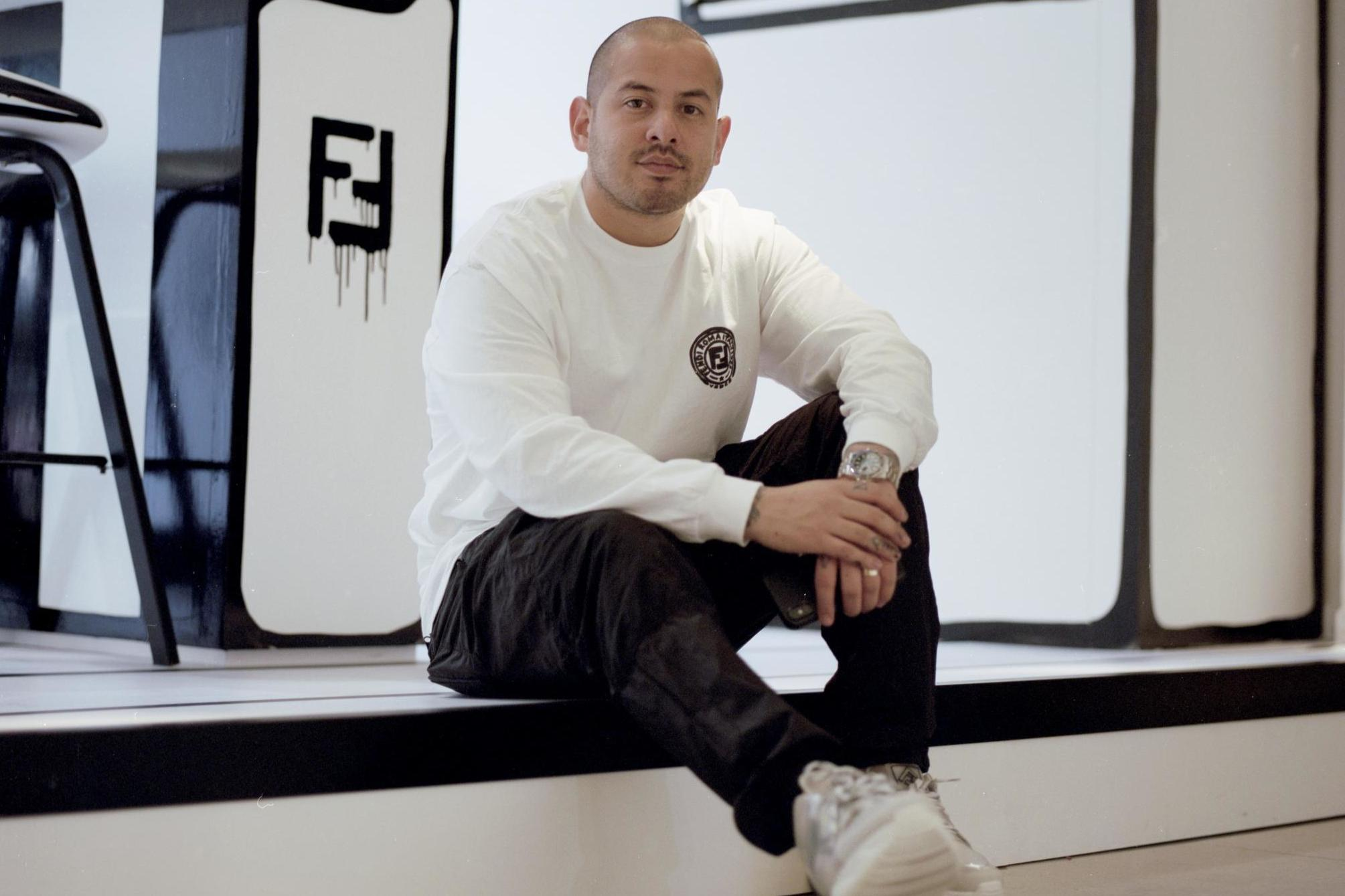 Joshua Vides in 2019 working on a Fendi project.
