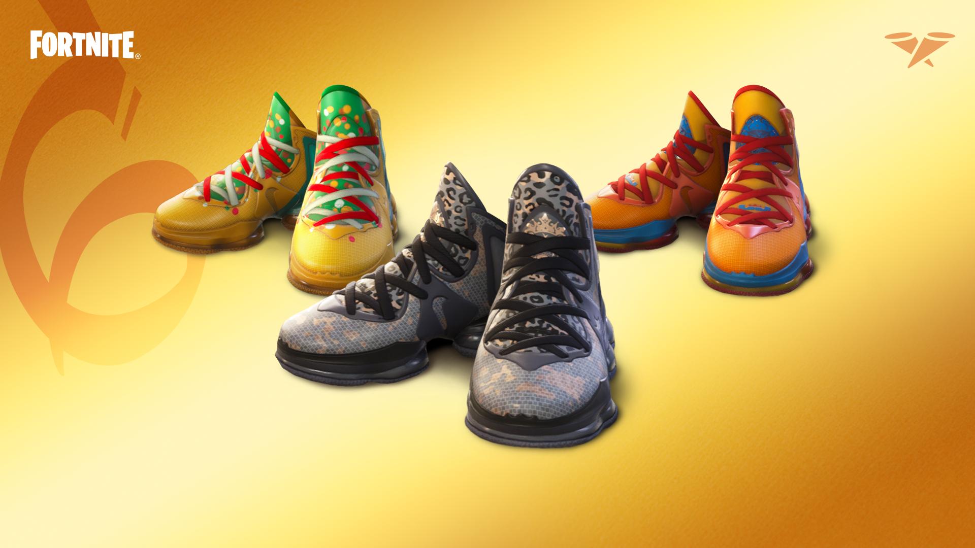 The Nike LeBron 19 sneakers in Fortnite