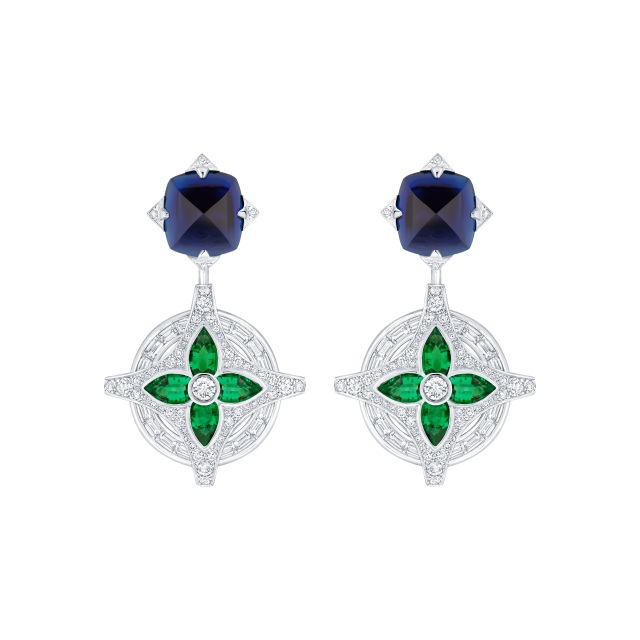 Louis Vuitton earrings from the Bravery high jewelry collection.