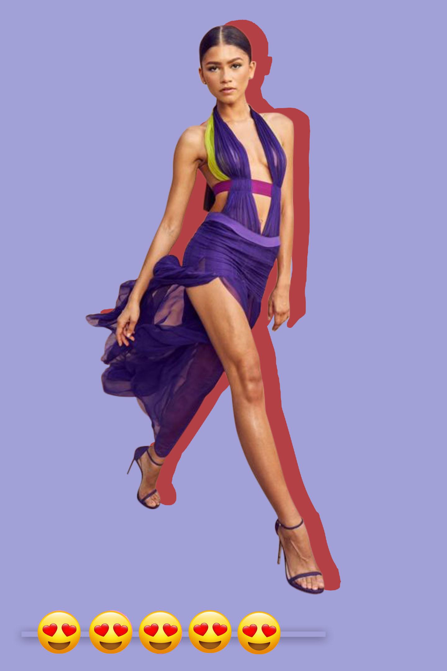 Zendaya in vintage Versace at the BET Awards.