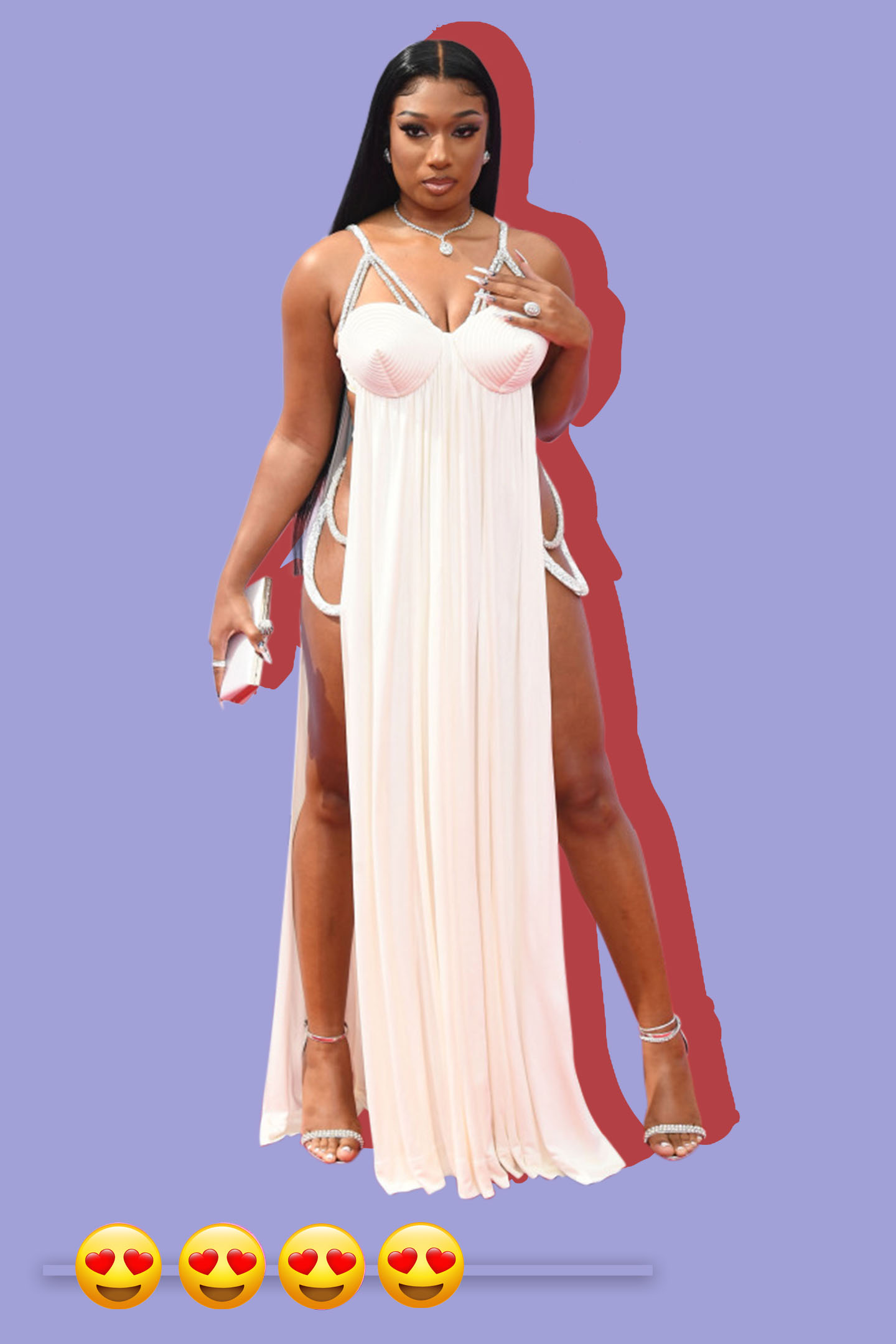 Megan Thee Stallion in Jean Paul Gaultier at the BET Awards.