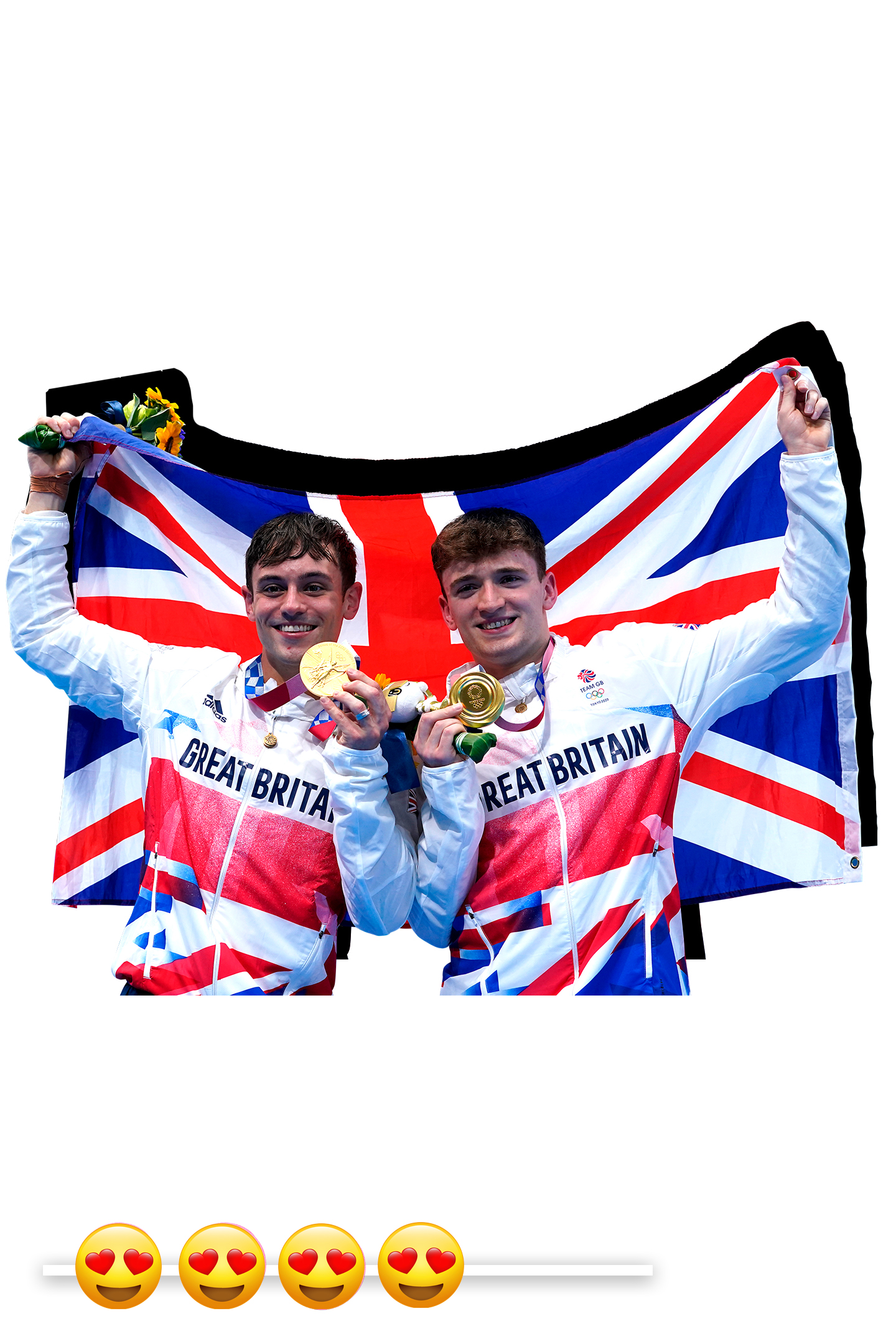 Tom Daley (left) and Matty Lee WWD Report Card: Going for Gold