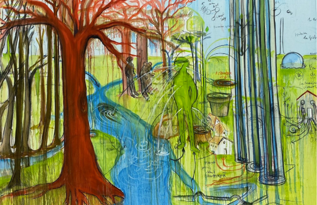 A work from the Trees exhibition.