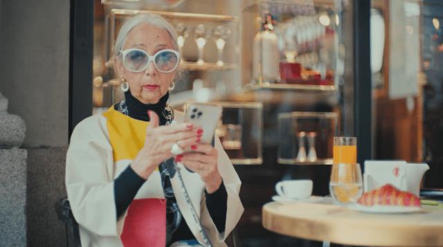 "Rossana Orlandi in the ""Not in Milano"" short video."