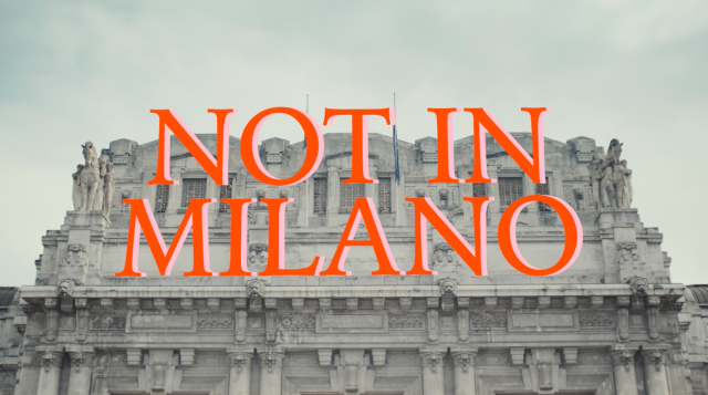 """A frame of the """"Not in Milano"""" short video."""