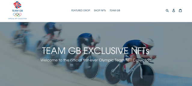 Team GB NFT storefront