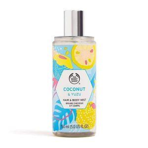 The Body Shop Coconut & Yuzu Hair & Body Mist, best body mists for women