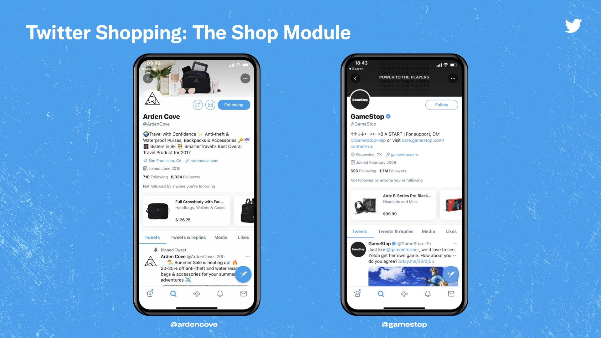 A look at Twitter's new Shop Module