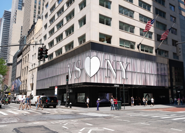The Victoria's Secret store in New York City.